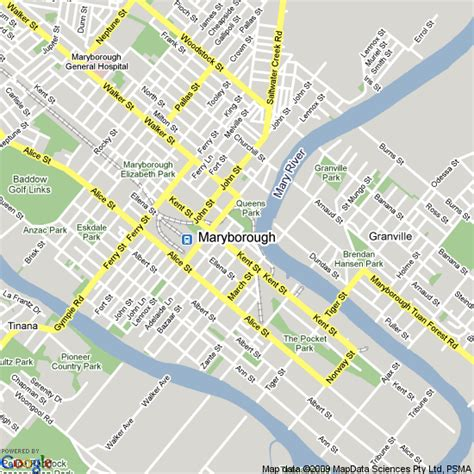 printable map hervey bay map of maryborough queensland hotels accommodation