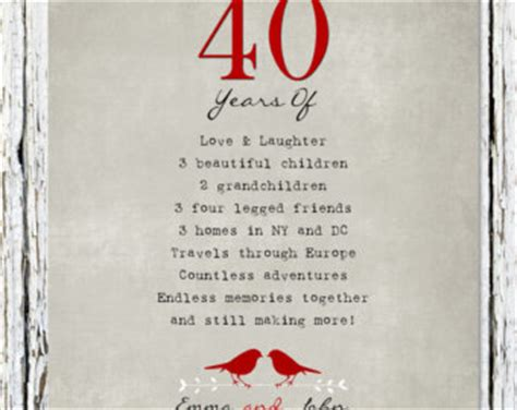 40th wedding anniversary messages for parents 40th anniversary poems quotes quotesgram