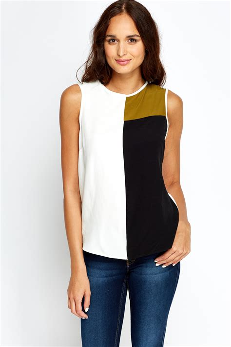 color block tops colour block top just 163 5