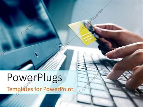 free credit card powerpoint template powerpoint template a person working on the laptop 10455