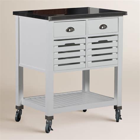 stainless steel top vitale kitchen cart world market