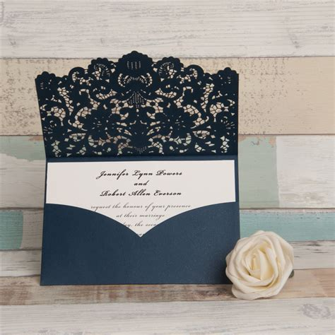 Laser Cut Pocket Wedding Invitations