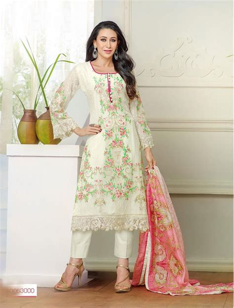 latest designer plazo suits thankar new designer off white straight plazo suit