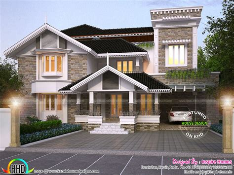 traditional house design luxurious modern mix traditional home and plan kerala