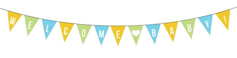 Baby Shower Bunting by Baby Banner Clipart Cliparts Galleries