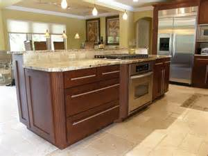 kitchen island stove transitional kitchen contemporary kitchen miami by