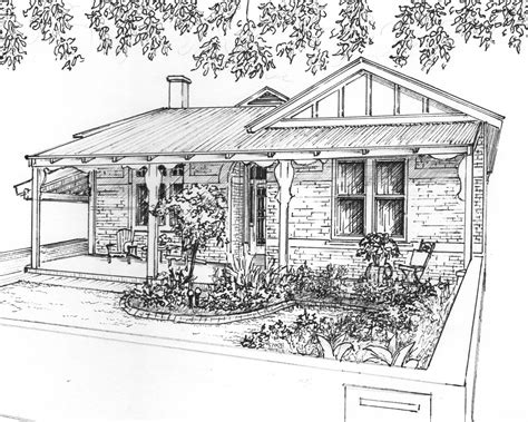 residential ink home design drafting custom house drawing in ink architectural sketch of your