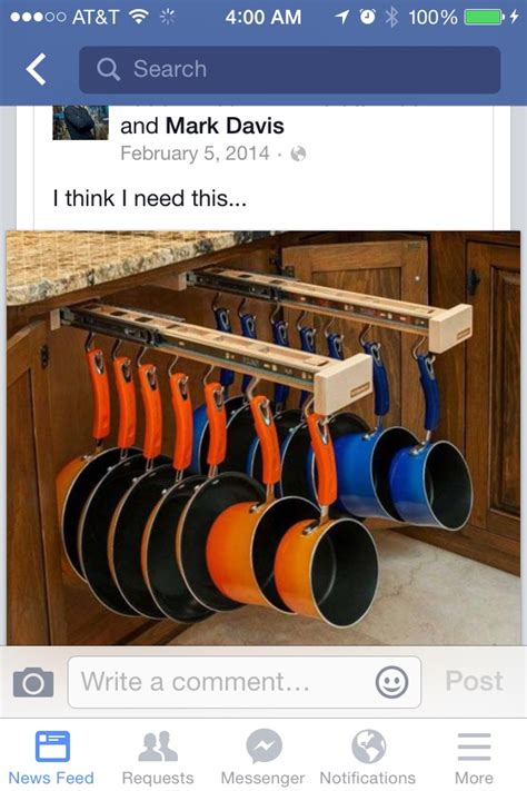 hometalk   counter pull  pots  pans rack