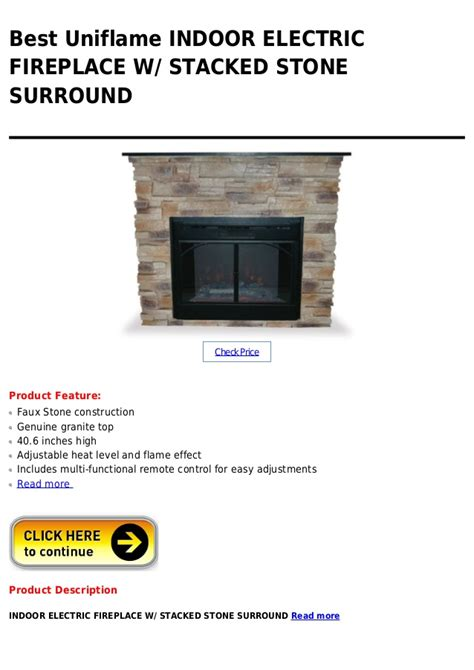 indoor electric fireplace with stacked stone surround uniflame indoor electric fireplace w stacked stone surround