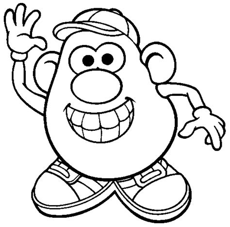 girl head coloring page mr potatohead coloring page print mr potatohead