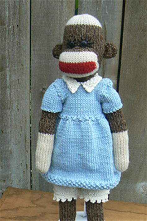 clothes pattern for sock monkey ravelry sock monkey dress pattern by susie rogers