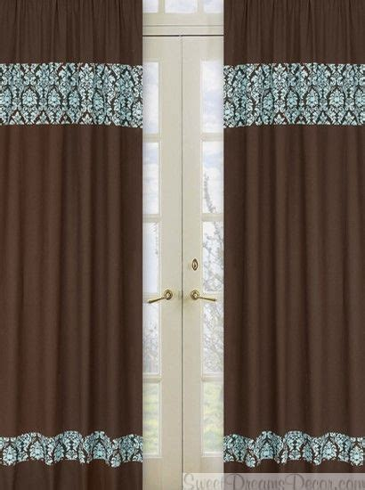 brown turquoise curtains 1000 images about living room on pinterest damask