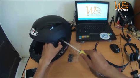 Helm Kyt R10 Flat Visor wb motovlog pasang flat visor kyt c5 di kyt r10