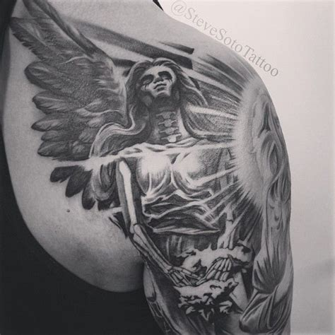 tattoo nightmares angel of death quot started this dark angel tattoo part of a religious death