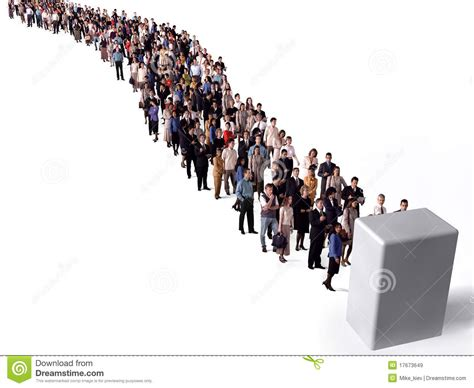 Queue The Photos by Queue Of Stock Illustration Illustration Of