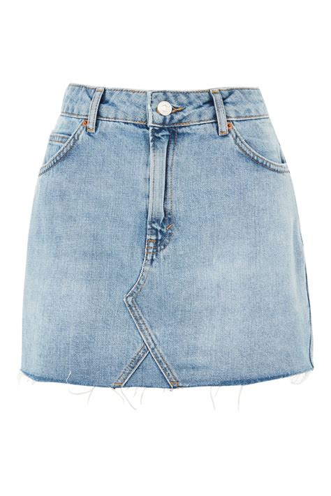 high waist denim skirt topshop