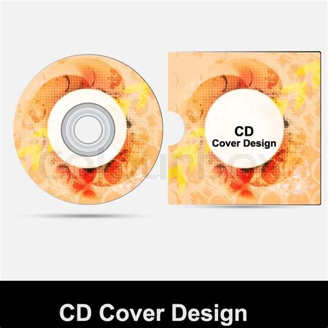 cd cover design template cd cover design template presentation isolated on white