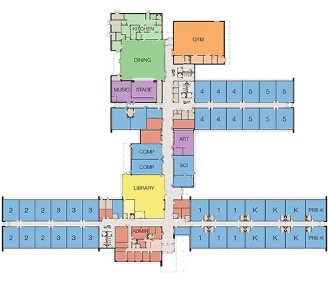 elementary school floor plan information overview