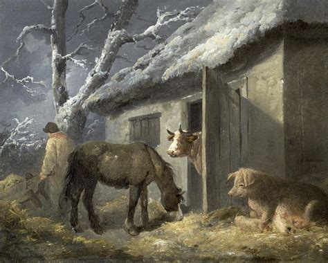the way back the paintings of george a weymouth a brandywine valley visionary books winter farmyard painting by george morland