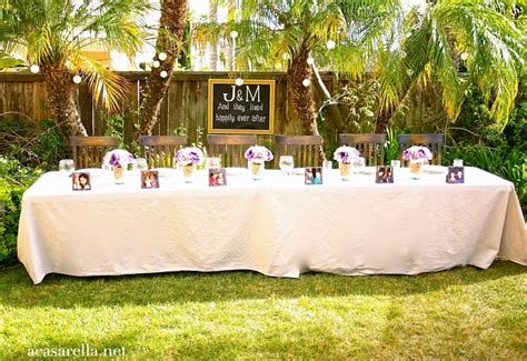 How To Have A Backyard Wedding Reception 28 Images Diy Backyard Wedding Reception