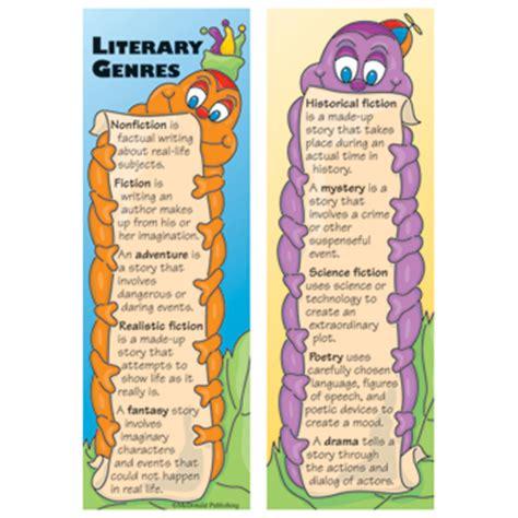 printable genre bookmarks main item numbers literary genres smart bookmarks 36 pkg