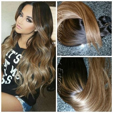 sunkissed brown hair extensions 1b 6 27 sunkissed caramel clip in extension set