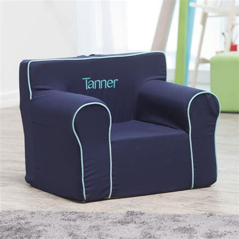 Personalized Chair by Here And There Personalized Chair Navy Canvas