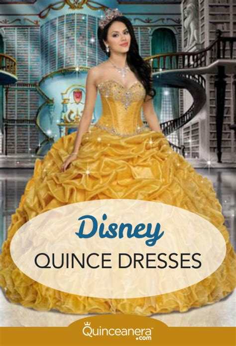 quinceanera themes beauty and the beast dance your cares away in a disney quince dress quinceanera