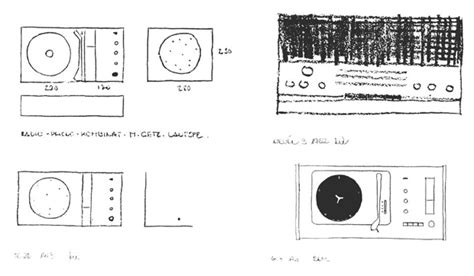 Radio 4 Sketches by Dieter Rams Sketches Discovered Design Agenda Phaidon