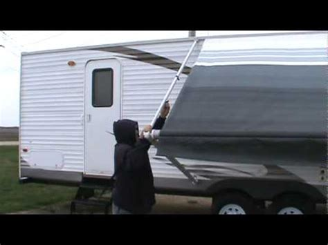 sun chaser awning a e sunchaser ii awning demonstration youtube