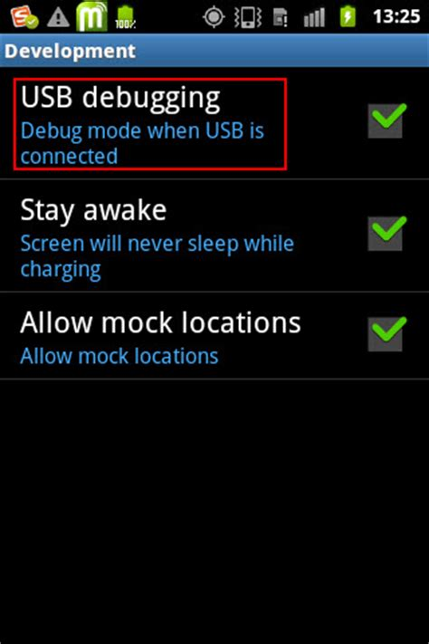 usb debugging app for android connection wondershare mobilego user guide