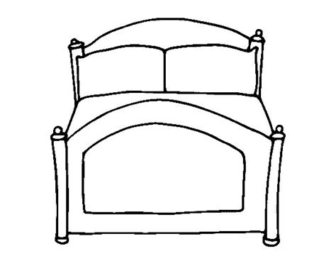 bed coloring page coloringcrew