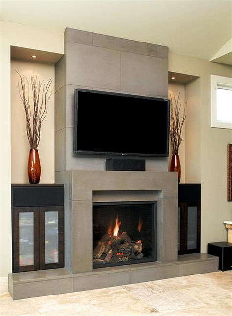 fireplace ideas contemporary fireplace designs with tv above ward log homes