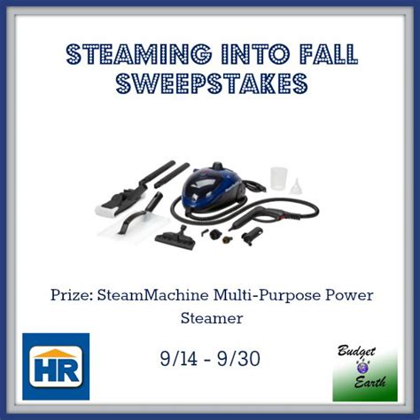 Fall Sweepstakes - steaming into fall sweepstakes