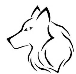 Simple Wolf Outline by Tribal Tattoos And Designs Page 68