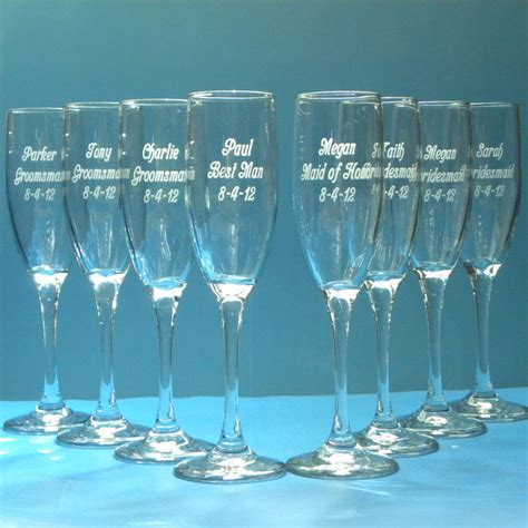 personalized chagne flutes custom chagne glasses wedding chagne flute glassware personalized engraved