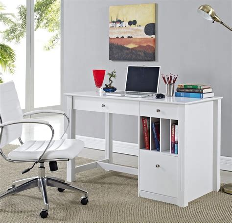 white wood computer desk white wood computer desk setup with chair minimalist