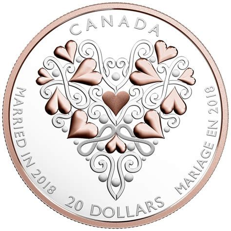 2018 Canadian $20 Best Wishes On Your Wedding Day   1 oz