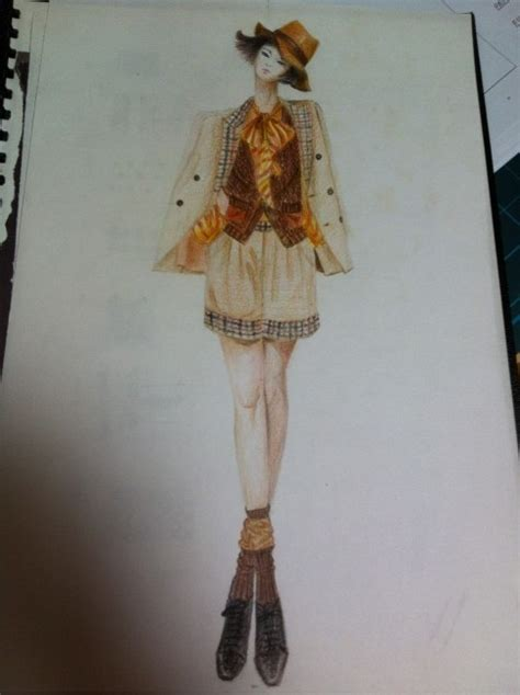 fashion illustration with colored pencils fashion illustration colored pencil yunjinlee
