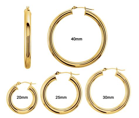 hoop earring sizes pictures to pin on pinsdaddy