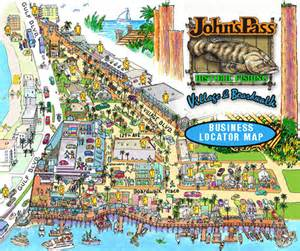 johns pass florida map johns pass map and merchants 171 johnspass