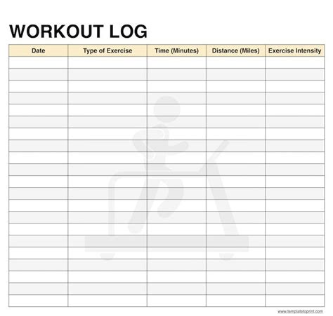 blank workout log template workout log book pdf dandk