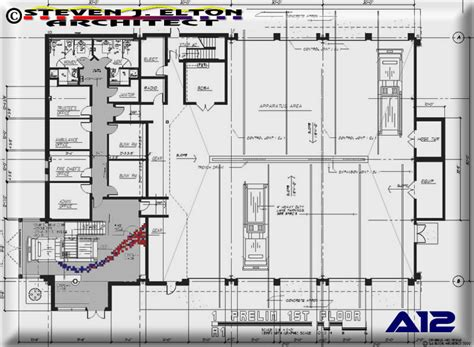 fire station floor plans fire ambulance station design first floor plan