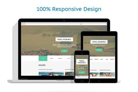 responsive layout animation modello siti web per un sito di assicurazione