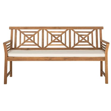 wood bench home depot safavieh luca ash grey acacia wood folding patio bench