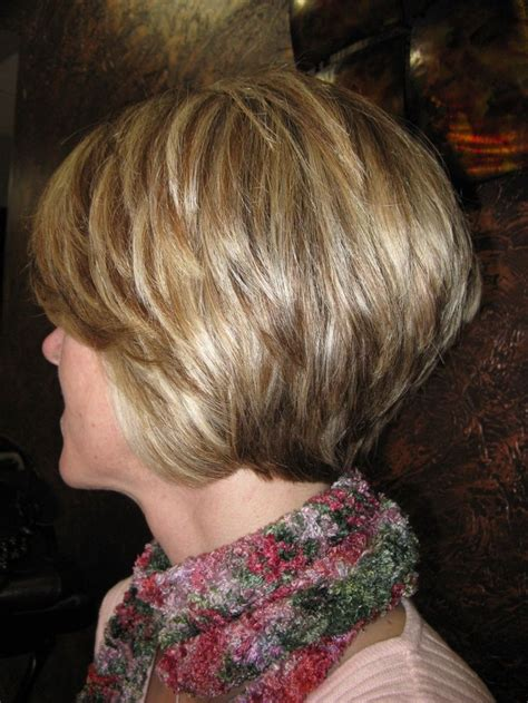 stacked or layered hair stacked layered bob back view www pixshark com images