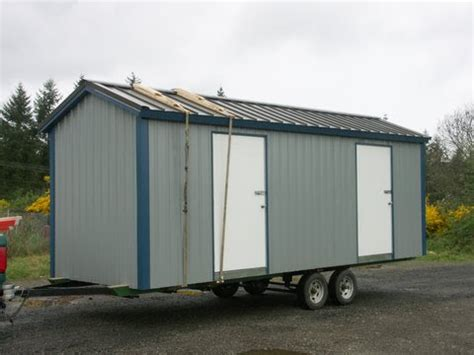 Shed On Wheels by Outdoor Buildings How To Build A Storage Shed On Wheels