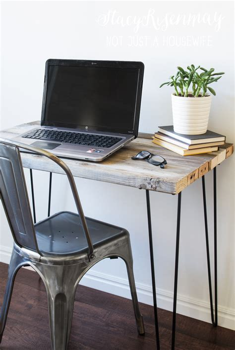 reclaimed wood desk not just a
