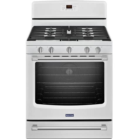 Oven Gas Stainless Steel maytag aqualift 5 8 cu ft gas range with self cleaning