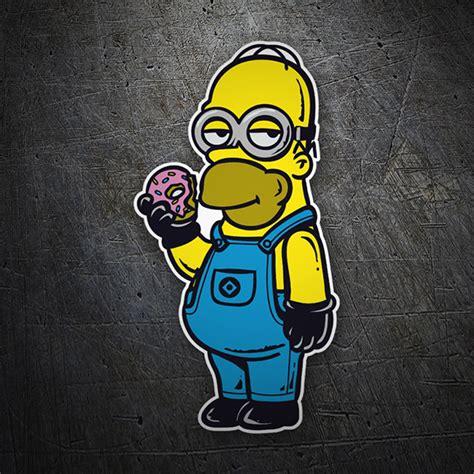 Aufkleber Auto Minion by Aufkleber Homer Minion Simpsons Webwandtattoo